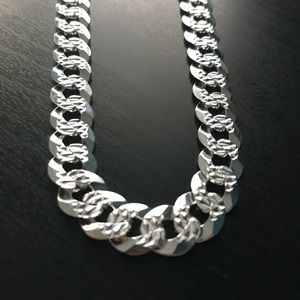 Heavy Sterling Silver Curb Chain
